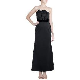 Black Scuba and Velvet Gown