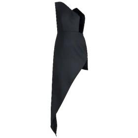 Black Asymmetrical One Shoulder Dress