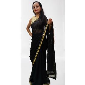 Black Laced Saree
