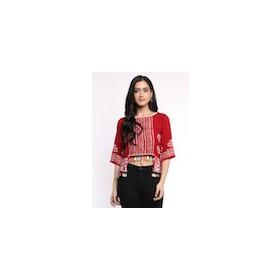 Batik Assymetrical Top with Tassels