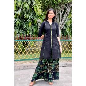 Batik Sharara Set