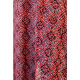 Red Ajrakh Hand Blockprinted Kurta
