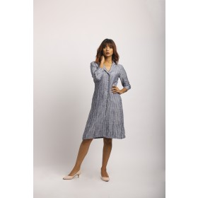 Striped greyish blue dress