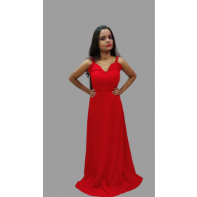 Red Velvet Valentine Gown